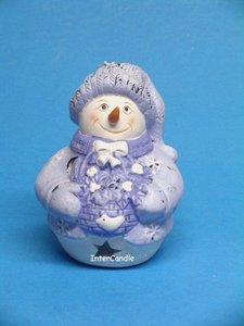 Sneeuwman met mand