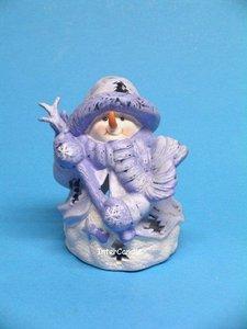 Sneeuwman met stok