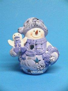 Sneeuwman met pop