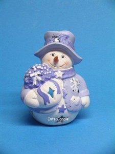 Sneeuwman met boeket