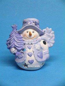 Sneeuwman met boom