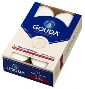 Gouda maxilichten 10 uur 12 st. wit