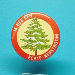 Button ik heb een echt Kerstboom.