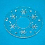 Bobeches van glas sneeuwvlok wit
