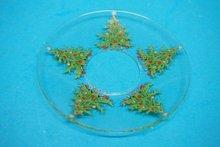 Bobeches van glas 5x Kerstboom